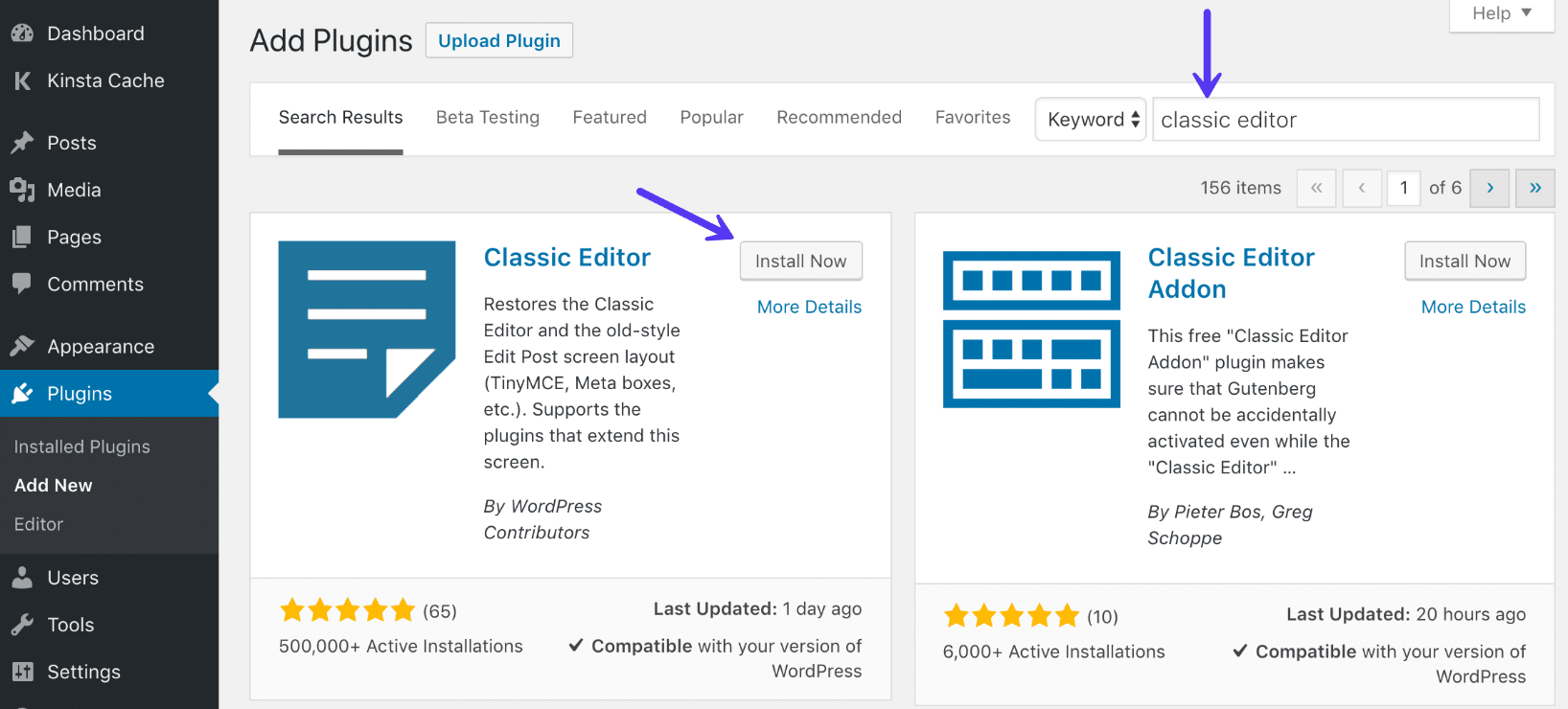 Wordpress 5 How to switch back to old Classic editor.